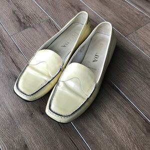 Made in Italy Prada leather flats loafers EUC