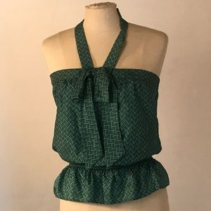 Nanette Lepore green silk top