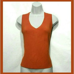1822 Denim Tops - Sleeveless Orange Top
