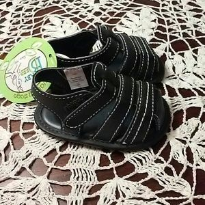 Baby Deer Other - Baby Deer Black Infant Boy Crawling Sandal