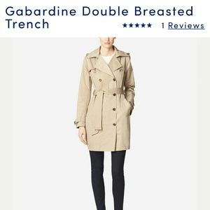 Cole Haan beige trench coat size small
