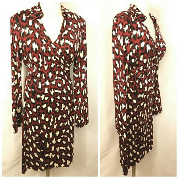 14bf3c38dc549 Diane von Furstenberg Dresses & Skirts - 🆕 NWOT DVF Cheetah Wrap Dress  Size 10