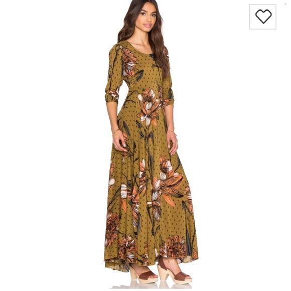 bbbb5a800bd5 Free People Dresses | Nwt First Kiss Goldenrod Maxi Dress S | Poshmark