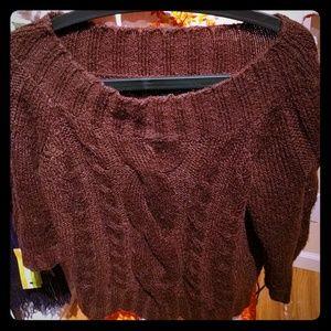 Anne Klein M chocolate brown sweater mohair blend