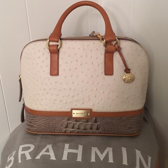 Brahmin Bags   Bag Nwt White Tan And Beige   Poshmark 418d7be6b8
