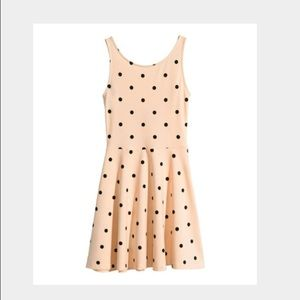 NWT Blush and Black Polka Dot Skater Dress H&M