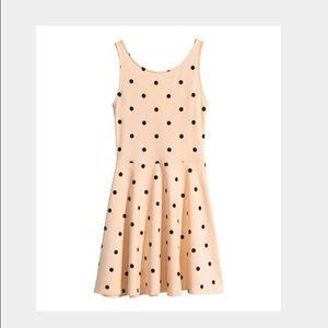 H&M Dresses & Skirts - NWT Blush and Black Polka Dot Skater Dress H&M