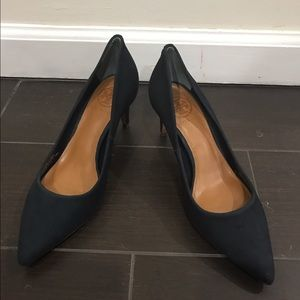 "Tory Burch Shoes - Tory Burch Ivy low suede navy pump 2.5"" heel"