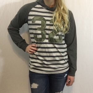 Lightweight Striped Pullover Hoodie Shirt Old Navy