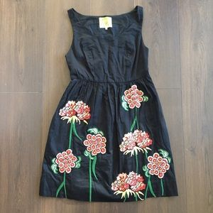 Floreat Crainsbill Embroidered Floral Dress