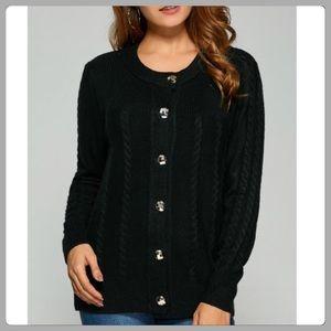 St. John's Bay Sweaters - St John's Bay Warm Black Button Cardigan Sweater