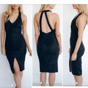 Dresses & Skirts - Tuxedo Suede Black Dress NWT❤️❤️