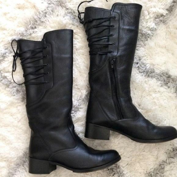 9b1a28e83fb03 Steve Madden Shoes | Bravvest Leather Lace Up Boots | Poshmark