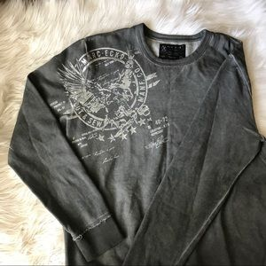 Marc Ecko Cut & Sew Crewneck Pullover Sweatshirt