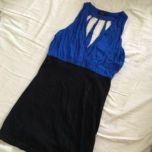 Motel Rocks Dresses & Skirts - Royal blue strappy cutout dress