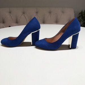 Head Over Heels Shoes - NWOT - Blue block Heels - Size 7