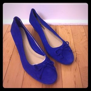 Hush Puppies Shoes - NEW Hush Puppies Blue Suede Wedges Size 7