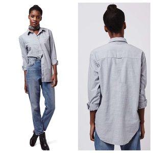 Topshop | Striped Oversized Shirt