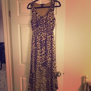 Macy's Dresses & Skirts - Beautiful High Low Leopard Print Dress