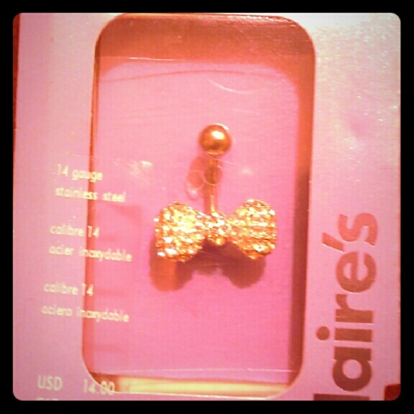 Claires Jewelry A Bowshaped Belly Button Piercing Ring Poshmark