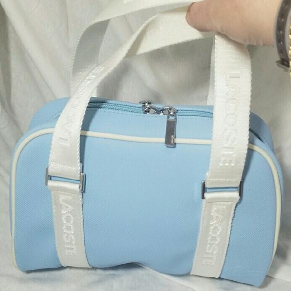 8498182d7 Lacoste Handbags - LACOSTE Boston Light Blue   White Mini Sachel Bag