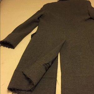 """J. Lindeberg Jackets & Coats - J.Lindeberg """"Wolger"""" Deconstructed Hem Wool Coat"""