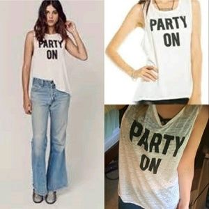 Chaser Tops - NWT Chaser Burnout Party On Tank M