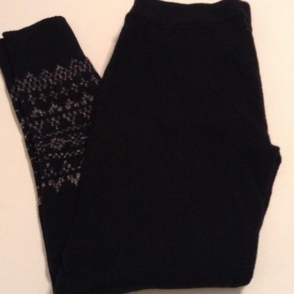 86% off GAP Pants - Gap Body Black Fair Isle sweater Leggings from ...