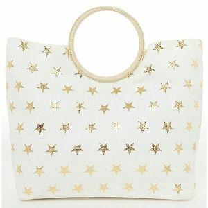 Lane Bryant Handbags - star tote gold handbag shopper overnight beach bag