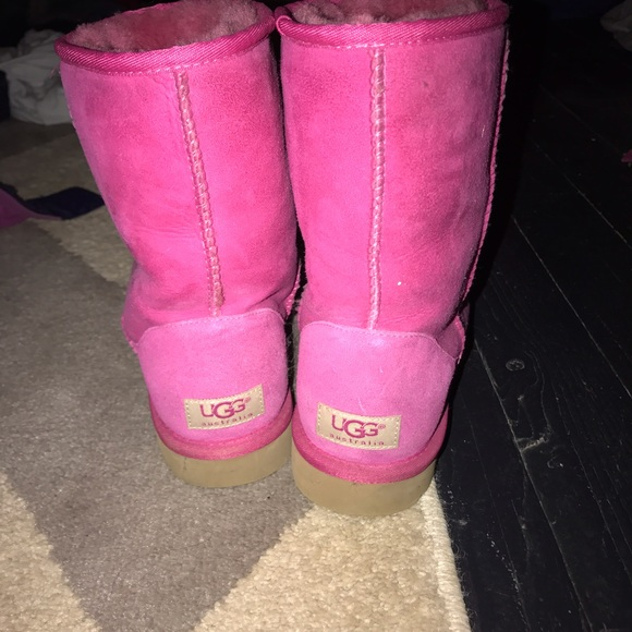 Women's hot pink Ugg boots size 8
