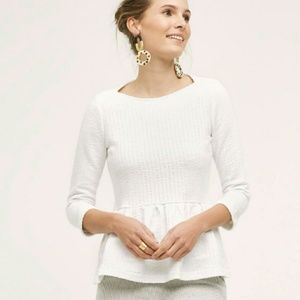Anthropologie Ruffled Peplum Top