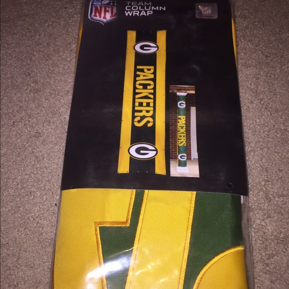 New Green Bay packers column wrap banner. NWT. nfl 1814330aa