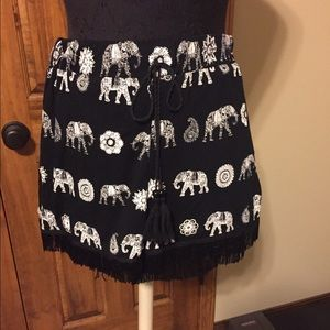 ASOS Elephant Print Shorts with Tie Waist