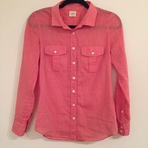 J. Crew Tops - J.Crew Voile Camp Shirt in Perfect Fit