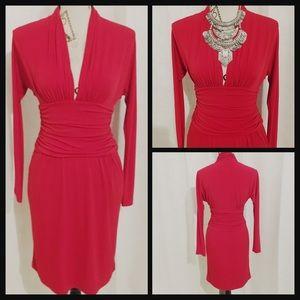 Boston Proper Dresses & Skirts - Gorgeous Red Dress Long Sleeves 💋