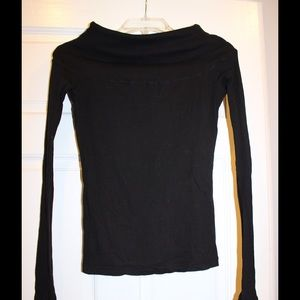 James Perse Sz 2 long sleeve top cowl/off shoulder