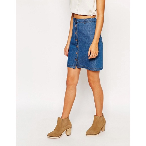 80% off Nordstrom Dresses & Skirts - Nordstroms Jean skirt with ...