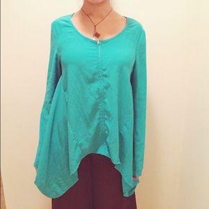 Miilla Clothing Jackets & Blazers - 💚Miilla Boho Hippie Batwing Style Zip Jacket Med