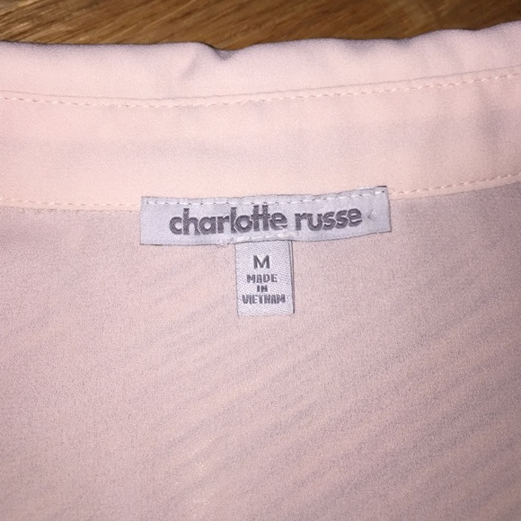 Charlotte Russe Dresses - Blush Charlotte Russe long sleeve dress with belt