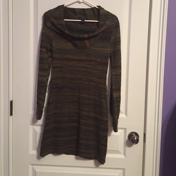 Jump Girl Dresses & Skirts - Jump Girl Olive and Brown Sweater Dress
