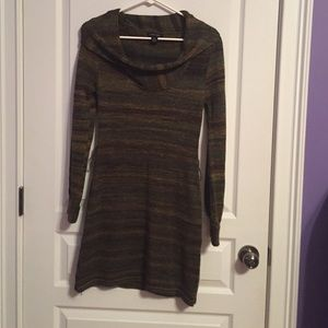 Jump Girl Olive and Brown Sweater Dress
