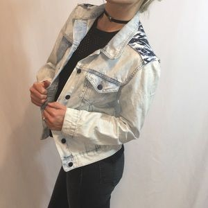 Rock & Republic Denim Jacket w/Printed Details