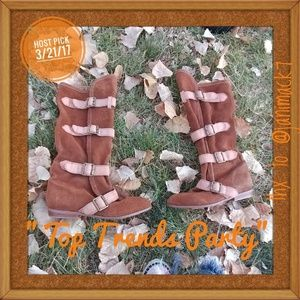 Jeffrey Campbell Shoes - 🎉HP🎉Jeffrey Campbell. Brown wrap/buckle boots.