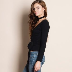 Bare Anthology Tops - Wrap Long Sleeve Top