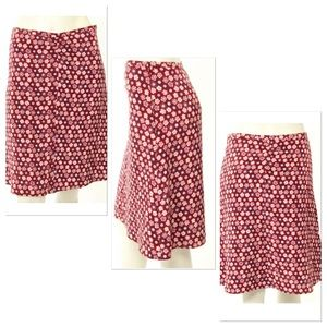 Tocca Dresses & Skirts - Tocca Red Floral Print A-Line Holiday Skirt Size 4