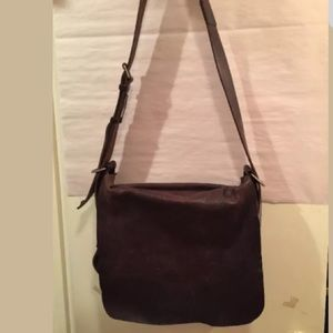 BALENCIAGA chocolate brown leather MESSNGER BAG