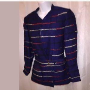 CHANEL size 40 FR wool bouclé Jacket w/belt $3800