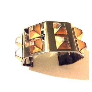 Coach Jewelry - ! Coach ! Rose Gold Pewter Spike Stud Cuff
