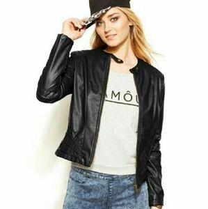 Jou Jou Jackets & Blazers - Moto Jacket Faux-Leather