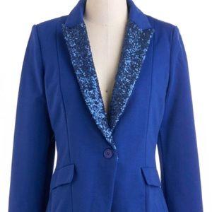 Statement Blazer - blue + sequins!